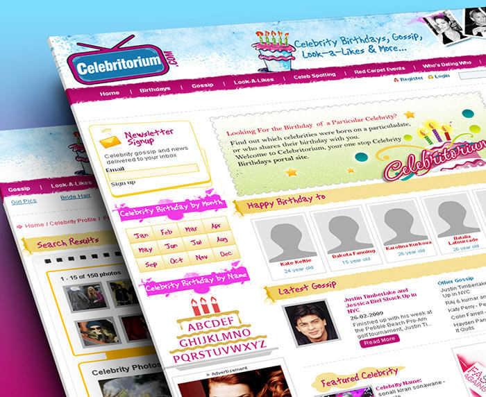Celebrity Information Website