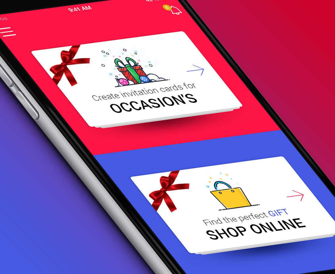 Event Card Creation/Shopping App